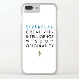 Wizard School House Qualities - Creativity, Intelligence, Wisdom, Originality Clear iPhone Case