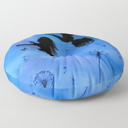 Free As The Wind Floor Pillow