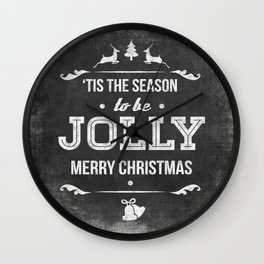 Christmas Chalk Board Wall Clock