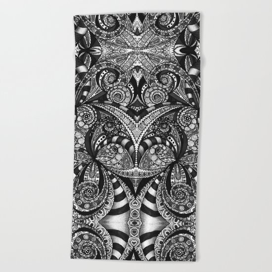 Drawing Floral Zentangle G6B Beach Towel