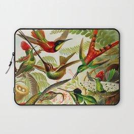 Vintage Hummingbird Illustration Laptop Sleeve