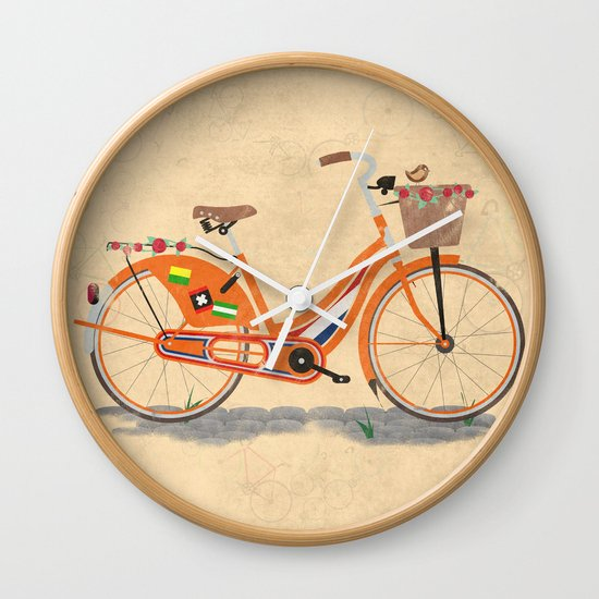 Bike Design Wall Clock : Love holland bike wall clock by wyatt design society