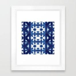 Royal Pima Shibori Framed Art Print