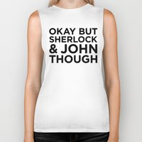 johnlock Biker Tanks featuring Sherlock and John Though by HipsterFangirl