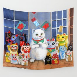 Lucky Cats Wall Tapestry