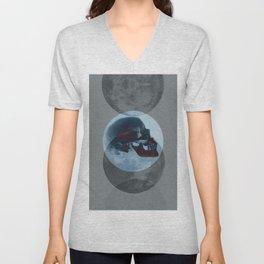 Death Blue Moon Unisex V-Neck