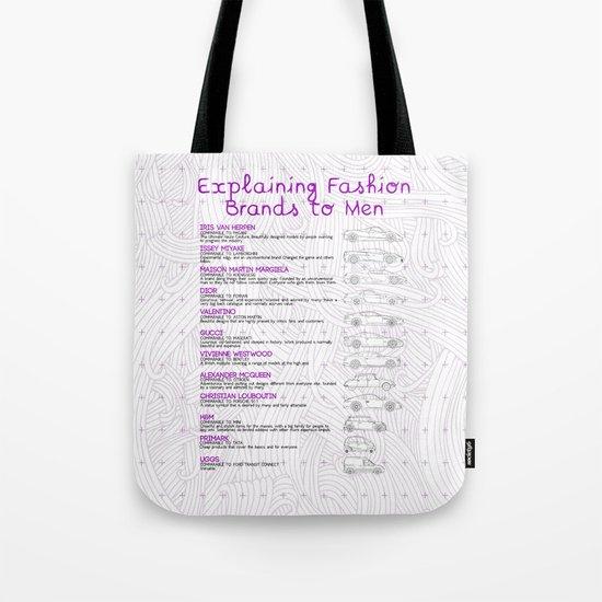 Explaining Fashion To Men Tote Bag