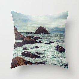 McClures Beach Throw Pillow