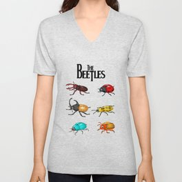 The Beetles, a parody with one of the biggest rock bands of all time. Unisex V-Neck