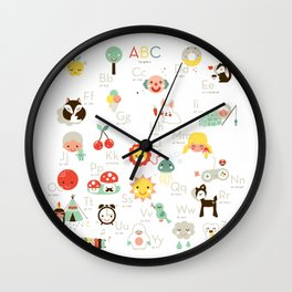 A is like apple Wall Clock