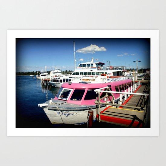 Think Pink! Art Print