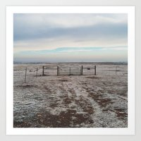 Snowy Gate Art Print