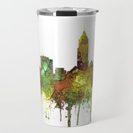 Cleveland, Ohio Skyline SG - Safari Buff Travel Mug