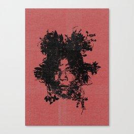 Basquiat botanical portrait Canvas Print