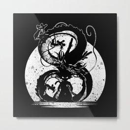 cool saiyan silhouette Metal Print