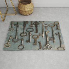 Vintage Skeleton Key Collection Rug