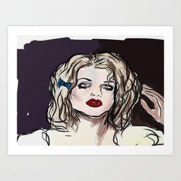 Love- Blue Ribbon Art Print