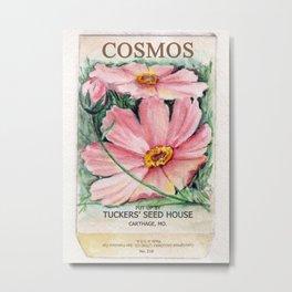 Cosmos Seed Packet Metal Print
