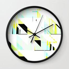 black&neon / triangle Wall Clock