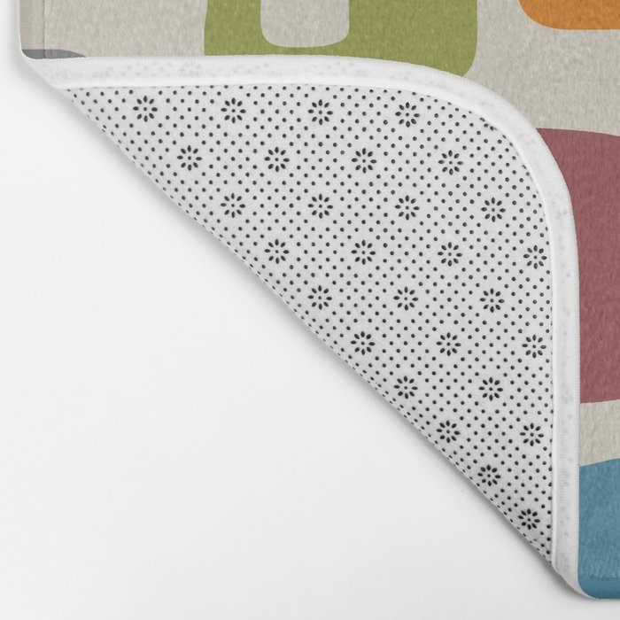 Retro Mid Century Modern Abstract Pattern 224 Bath Mat