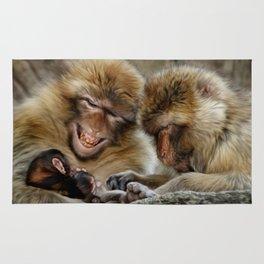 Barbary Macaques Rug