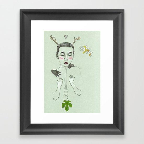 kış (winter) Framed Art Print