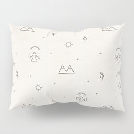 Death Valley in Ivory and Clay Pillow Sham