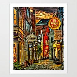 Evening in Bremen Art Print