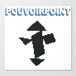 POUVOIRPOINT pixel Tanguy (white) Canvas Print