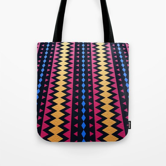Aztec Pattern with Textured Appearance Tote Bag