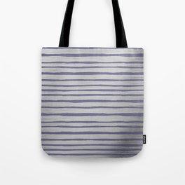 Violet gray silver watercolor brushstrokes stripes Tote Bag