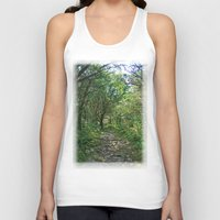 hiking Tank Tops featuring Killarney National Park Hiking Path by TheBlueRoseStudio