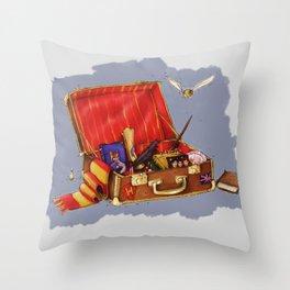 Magic Suitcase Throw Pillow