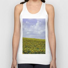 Field of Happiness - Sunflowers  Unisex Tank Top