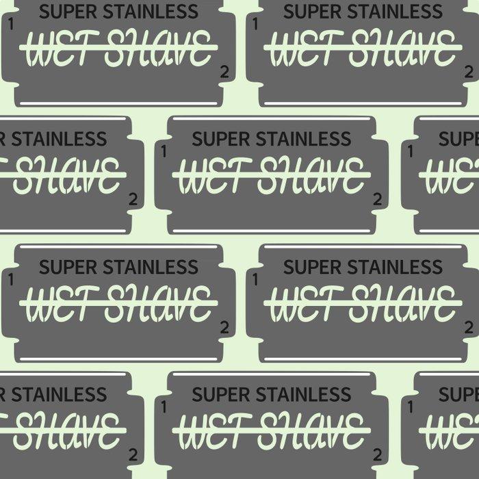 Wet Shave Razor Blade Duvet Cover