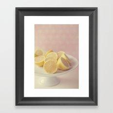 Pretty Lemons Framed Art Print
