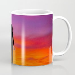silhouette photography of a woman Coffee Mug