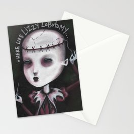 Spleen Sister - Lizzy Lobotomy by Macabre Stationery Cards