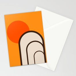 Birch Sunset Stationery Cards
