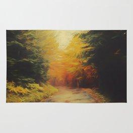 Grove in autumn Rug
