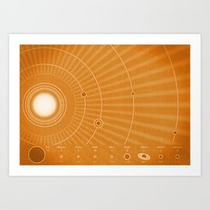 Solar System Hot Art Print