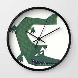 Snapping vintage Alligator Wall Clock