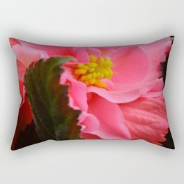 Begonia Flower by Teresa Thompson Rectangular Pillow