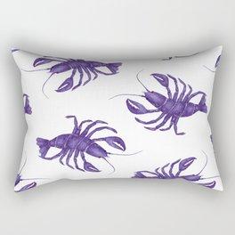 Le Lobster Bleu Rectangular Pillow