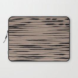 Hand Painted Lines / Dark Beige Laptop Sleeve