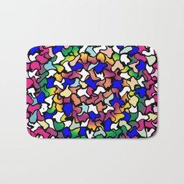Wobbly Vibrant Tiles Bath Mat