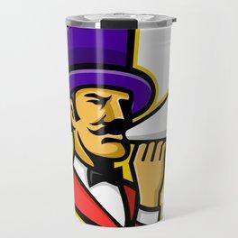 Circus Ringleader or Ringmaster Mascot Travel Mug