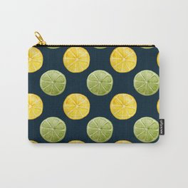 Watercolor Lemon Lime Pattern Carry-All Pouch