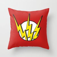 the flash Throw Pillows featuring Flash by Msimioni