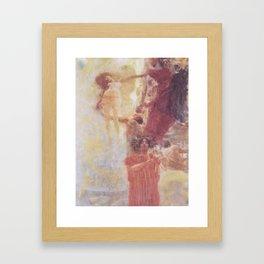 Painted Composition Design to Medicine Framed Art Print